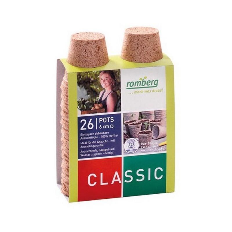 26 Biodegradable Pots 6 cm