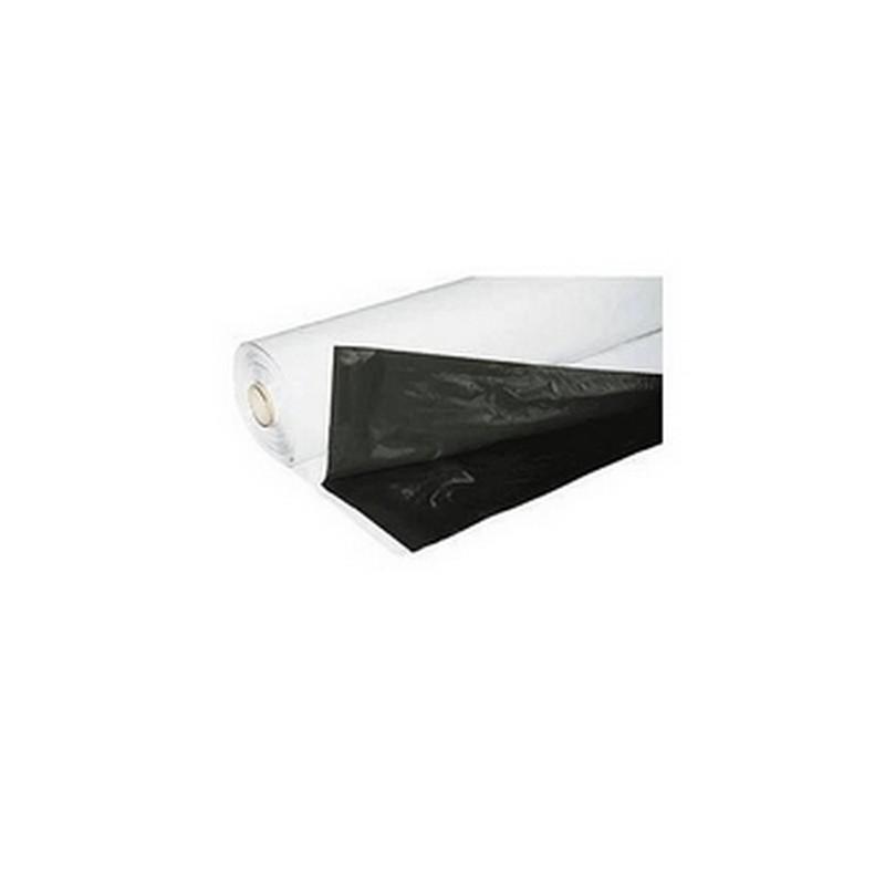 Bâche Plastique Noir/Blanche Easygrow 125mu par mètre