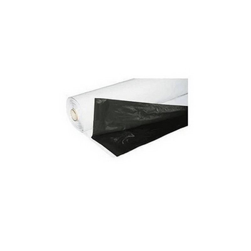 Zwart/Wit Folie Easygrow 125mu per meter